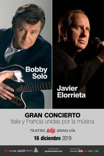 Bobby Solo y Javier Elorrieta en concierto