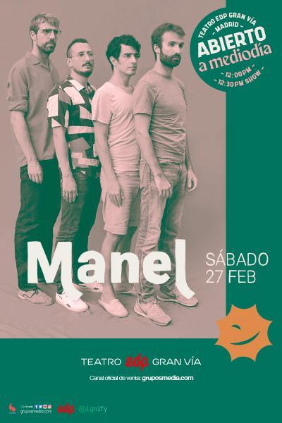 Manel en concierto - Abierto a mediodía
