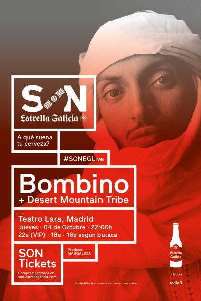Bombino + Desert Mountain Tribe en Madrid   SON Estrella Galicia