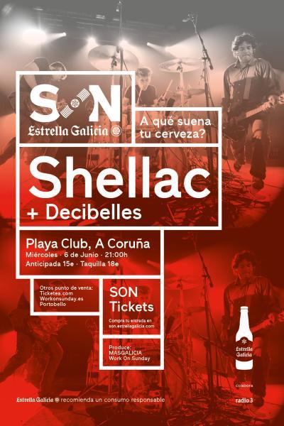 Shellac + Decibelles en A Coruña | SON Estrella Galicia