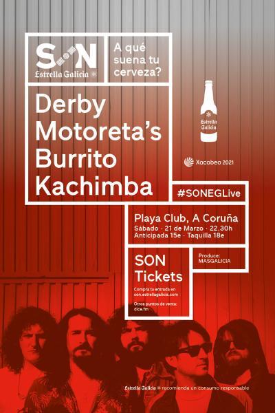 Derby Motoreta´s Burrito Kachimba en Coruña   SON Estrella Galicia