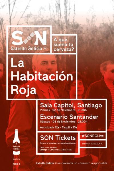 La Habitación Roja en Santiago | SON Estrella Galicia