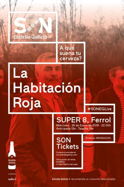 La Habitación Roja en  Ferrol | SON Estrella Galicia