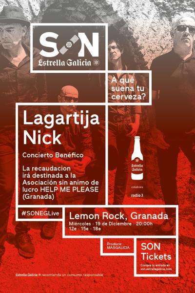 Lagartija Nick (concierto benéfico) en Granada / SON Estrella Galicia