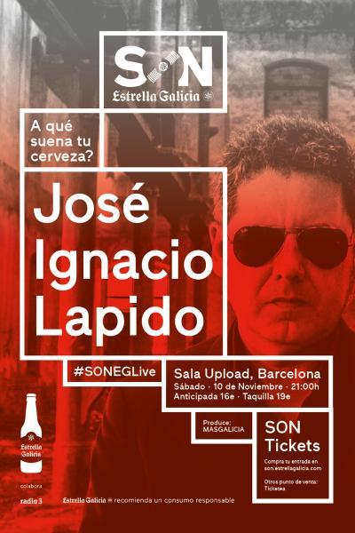 Jose Ignacio Lapido en Barcelona | SON Estrella Galicia