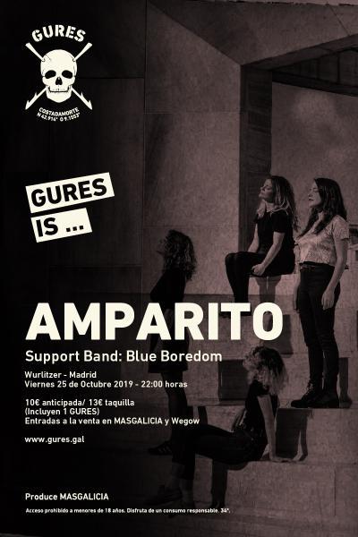 Amparito + Blue Boredom en Madrid | Gures is on tour