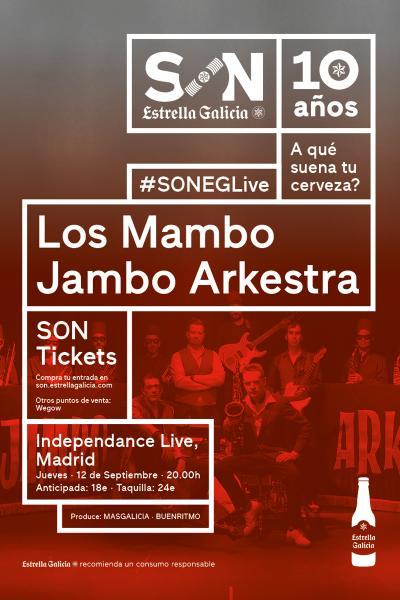 Los Mambo Jambo Arkestra en Madrid   SON Estrella Galicia