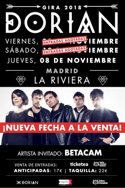 Dorian presenta 'Justicia Universal', Madrid (La Riviera) TERCERA FECHA
