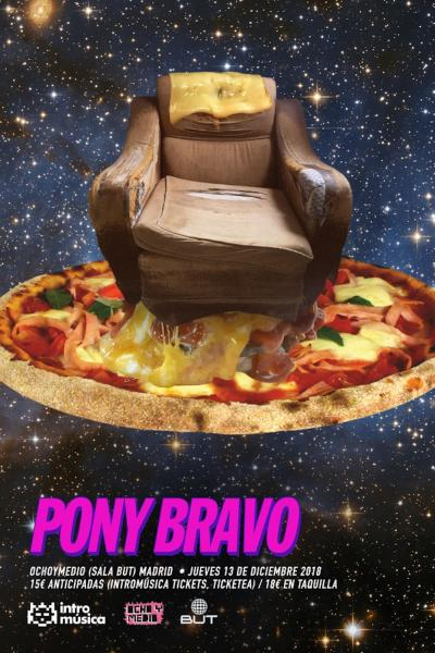 Pony Bravo en Ochoymedio Club (Sala BUT)