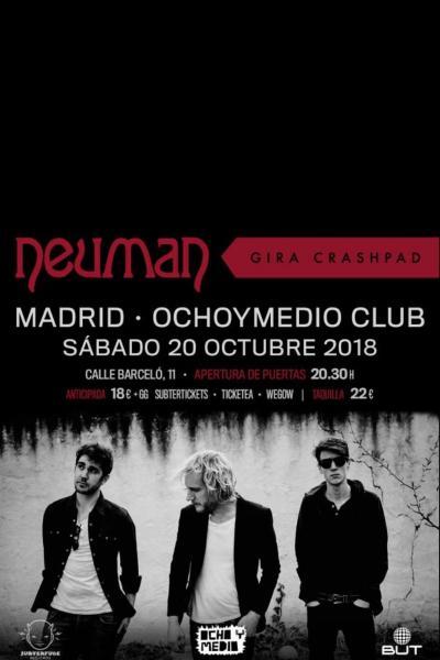 Neuman en Madrid, gira Crashpad (Ochoymedio Club)