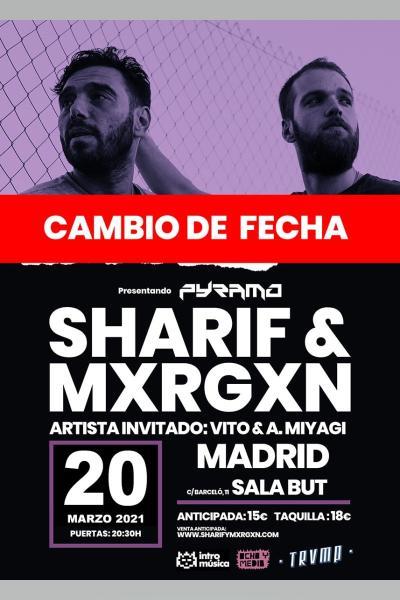 SHARIF & Mxrgxn en TRVMP (Madrid, Sala BUT) [CAMBIO DE FECHA]
