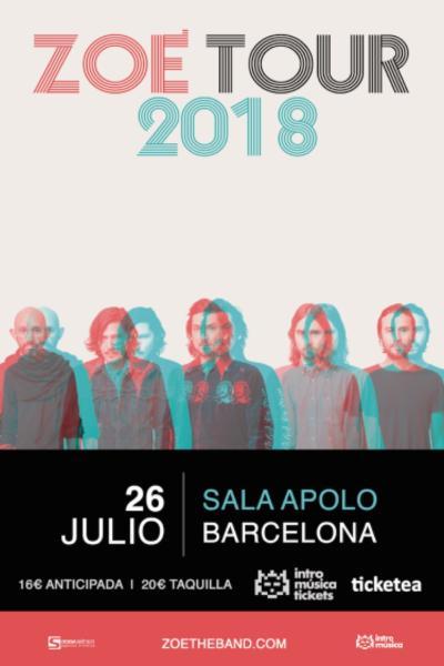 Zoé presentan su nuevo álbum en Barcelona (Sala Apolo)