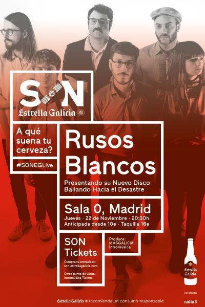 Rusos Blancos presentan 'Bailando hacia el Desastre' en Madrid (Sala 0)