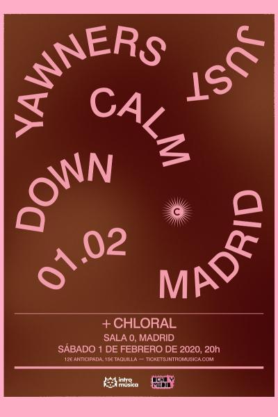 Yawners + Chloral en Madrid (Sala 0)