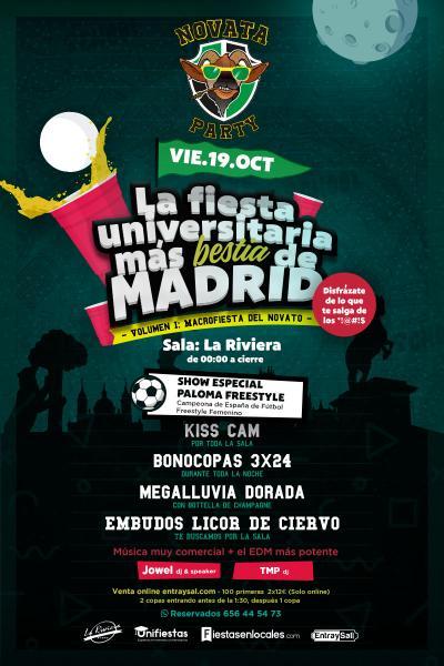 Novata Party Vol 1 La Fiesta Universitaria más bestia de MADRID
