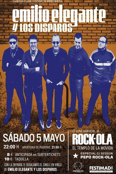 Emilio Elegante y Los Disparos en Madrid (Rock-Ola)