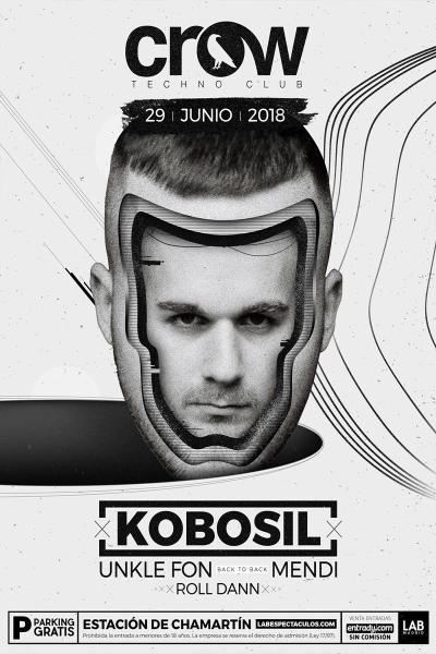 Kobosil en Crow Techno Club - 29JUNIO18
