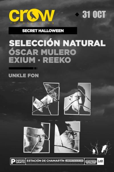 Crow Techno Club - O. Mulero + Exium + Reeko: Selección Natural - 31OCT18