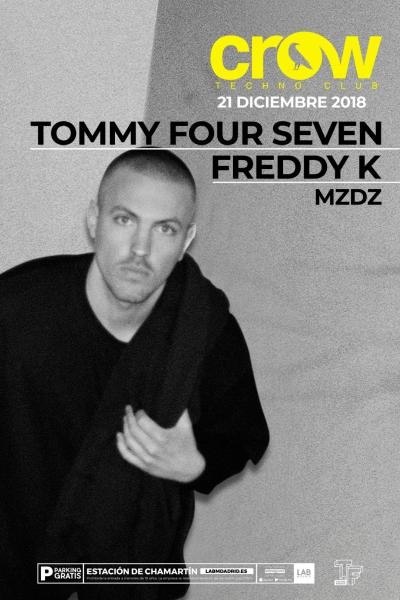 Tommy Four Seven en Crow Techno Club - 21DIC18