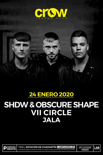 SHDW & OBSCURE SHAPE en Crow Techno Club